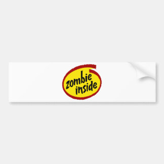 Zombie Inside Bumper Sticker