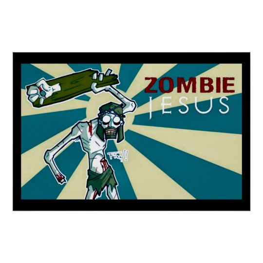 Zombie Jesus Art Nouveau Poster