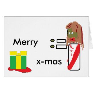 Zombie Jesus Christmas Greeting Card