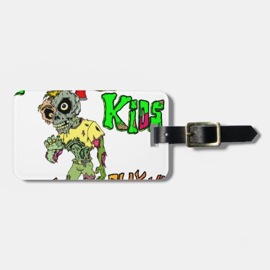 Zombie Kids Luggage Tag