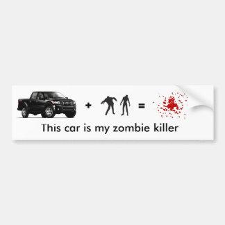 zombie kill car bumper sticker