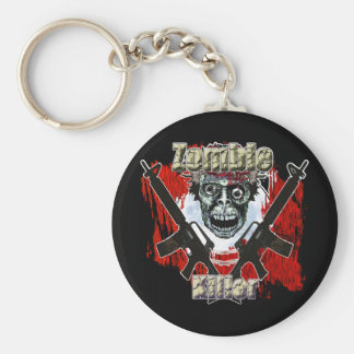 Zombie Killer 4 Basic Round Button Key Ring