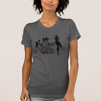 Zombie killer girl t shirts