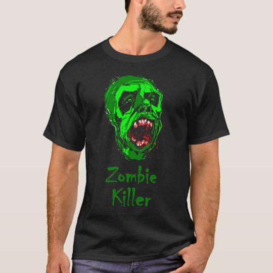 Zombie Killer T-shirt w/Green Zombie