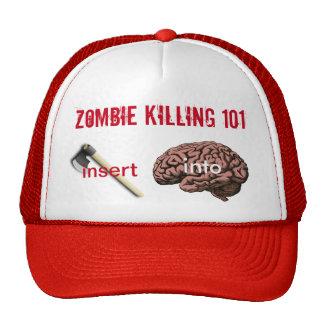 Zombie Killing 101 (insert ax into brain) Mesh Hat