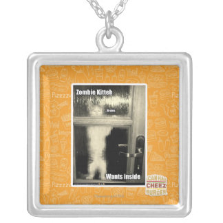 Zombie Kitteh Silver Plated Necklace