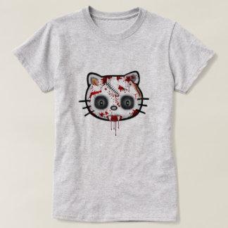 Zombie Kitty Cat Funny Halloween T-Shirt