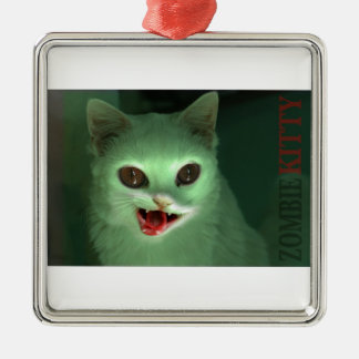 Zombie Kitty Christmas Ornament