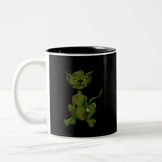 zombie-kitty Two-Tone coffee mug
