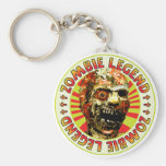 Zombie Legend Basic Round Button Key Ring