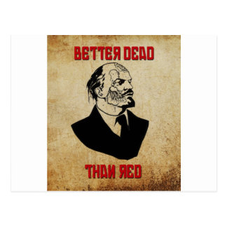 Zombie Lenin; Better Dead Than Red Postcard