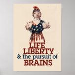 Zombie Liberty Poster