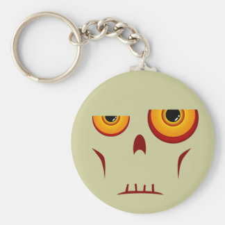 Zombie Long Face Keychain