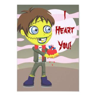 Zombie Love 13 Cm X 18 Cm Invitation Card