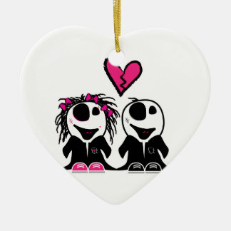 ZOMBIE LOVE CHRISTMAS ORNAMENT