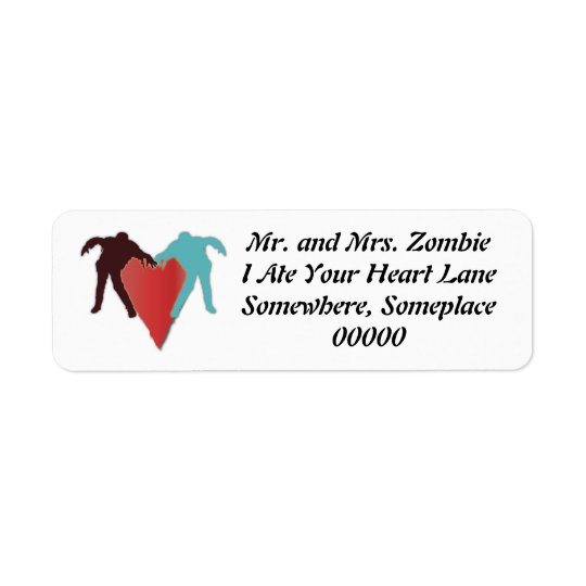 Zombie Love Heart Label