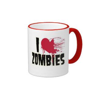 Zombie Love Ringer Coffee Mug