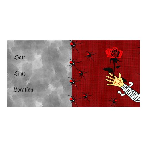 Zombie Love Personalized Photo Card