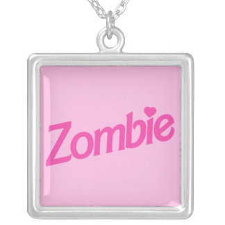 zombie love silver plated necklace