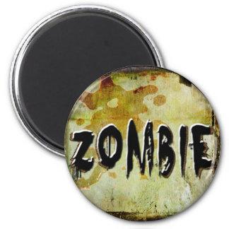 Zombie 6 Cm Round Magnet