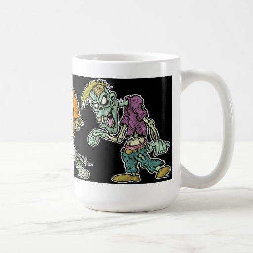 """Zombie March"" - Cartoon Zombie Mug"