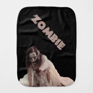 Zombie married burp cloth