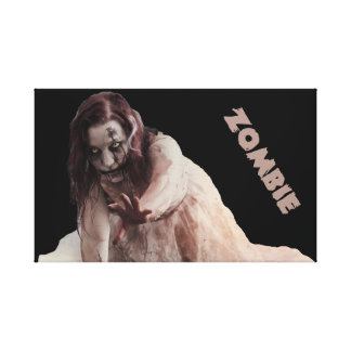 Zombie married canvas print