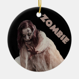 Zombie married christmas ornament