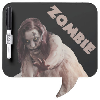 Zombie married dry erase board