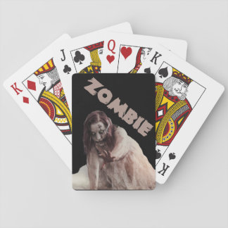 Zombie married playing cards
