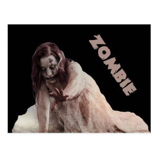 Zombie married postcard