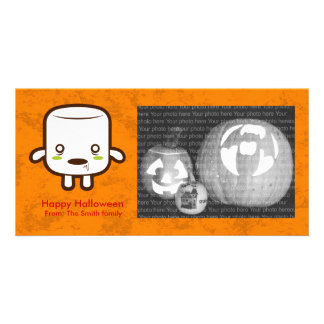 Zombie Marshmallow Personalized Photo Card