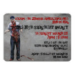 Zombie Mechanic Custom Birthday Invites 13 Cm X 18 Cm Invitation Card