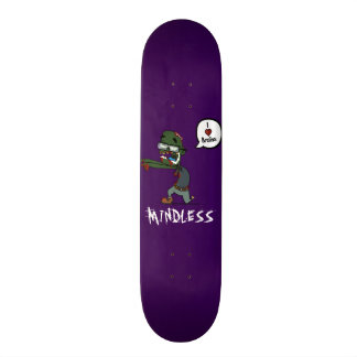 Zombie mindless purple deck skateboard deck