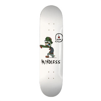 Zombie mindless white deck skate board decks