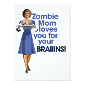 Zombie Mom 11 Cm X 16 Cm Invitation Card