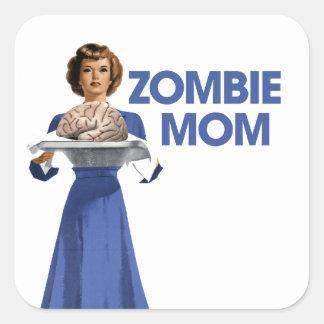 Zombie Mom Square Sticker