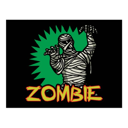 Zombie Mummy Postcard