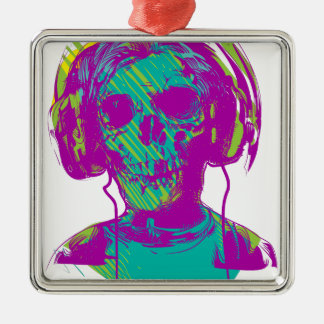 Zombie Music Christmas Ornament