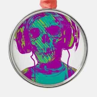 Zombie Music Christmas Ornament