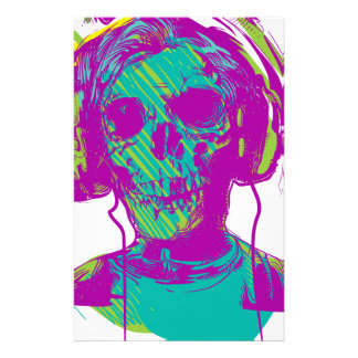 Zombie Music Stationery