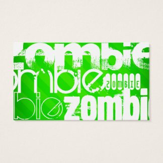 Zombie; Neon Green Stripes Business Card