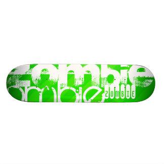 Zombie; Neon Green Stripes Custom Skateboard