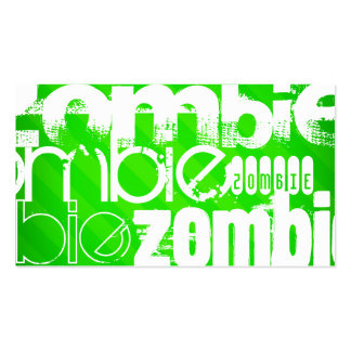 Zombie; Neon Green Stripes Pack Of Standard Business Cards