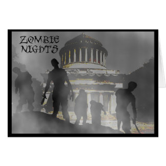 Zombie Nights Greeting Card