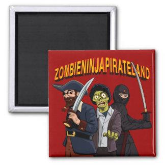 Zombie Ninja Pirate Land Magnet