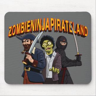 Zombie Ninja Pirate Land Mouse Mat