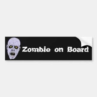 Zombie on Board Bumper Sticker
