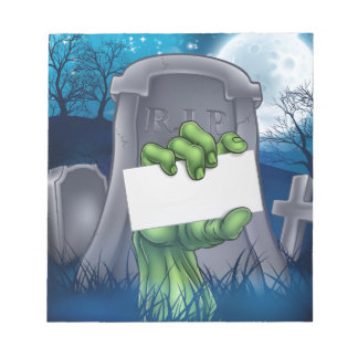 Zombie or Halloween Monster Sign Notepad