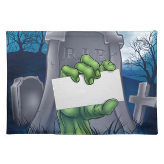 Zombie or Halloween Monster Sign Placemat